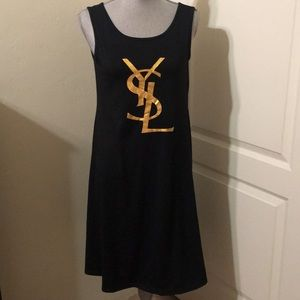 YSL Black Tank T-shirt Dress Medium